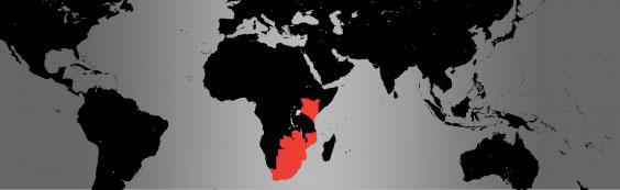 southern white rhino map